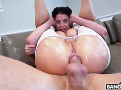 Supa thick Angela White is drilled in huge ass to squirting