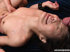 Bukkake hoe Aoi Miyama is hate fucked in her leaking beaver