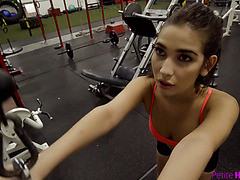 GYM POV with tight and young fitness hottie Olivia Nova