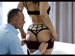 Abella Danger makes love with a stud two times older that her