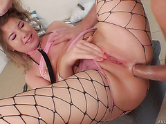 Vienna Rose suffers from animalistic anal sex and balls insertion