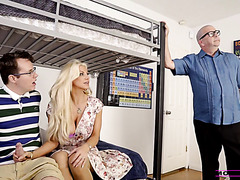 Hot mom Brittany Andrews cucks husband with stepson in POV