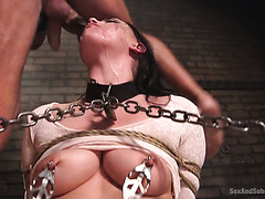 Sex slave Rachael Madori gets her ass and throat punished