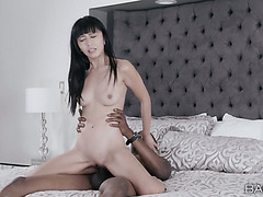 Interracial sex between Japanese girl Marica Hase and a Black dude