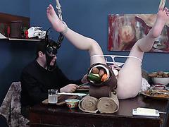 Analfest con la esclava PAWG BDSM Jessica Kay