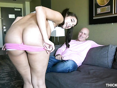 Phat ass Kitty Catherine shakes big Latina booty on hard cock