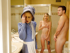 Petite MORMON TEEN Kate Bloom is in love with stepbrother