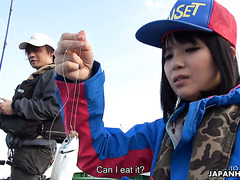 JAP Sena Sakura goes fishing on boat and takes creampie