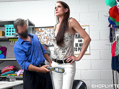 Fit mature Sofie Marie gets risky creampie for stealing watches