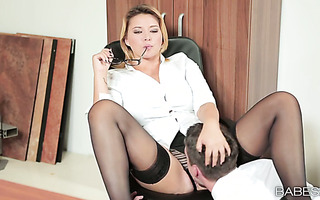 Sexually attractive Anna Polina getting fucked in her office