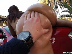 Plumptastic Latina honey Sarah loves sport cars and big dicks