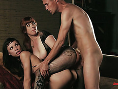 Horny dude fucks two porn stars Penny Pax and Aidra Fox