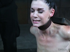 Bondaged India Summer gets toyed with magic wand in dark dungeon