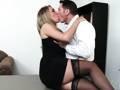Delightful Harley Jade fucks a man in his office to get a job