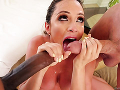 Big boobed mommy Ariella Ferrera is a furious cock sucker