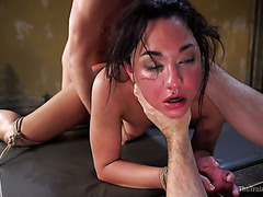 Just a nice brutal ass fuck of restrained slave hoe Amara Romani