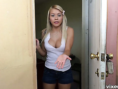 Eviction notice turns cute tenant Marsha May into cock hungry whore