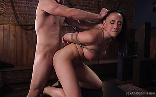 Legendary Chanel Preston gets her anus ripped off in BDSM action