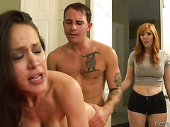 Mature McKenzie Lee gets ass fucked by stepdaughter's boyfriend