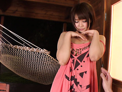 Saya Tachibana enjoys hot toy fuck session on a veranda
