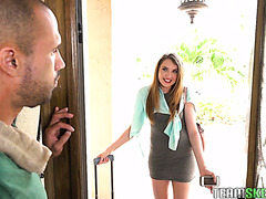 Russian housemaid Elena Koshka is here to clean up and fuck