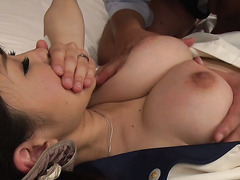 Superb Nippon maid Yui Satonaka takes a creampie after unforgettable sex