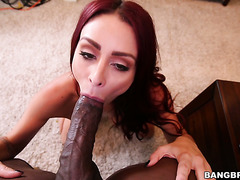 Redhead MILF Monique Alexander enjoys BBC while hubby isn't home