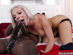 Tiffany Dawson gets her tight snatch ripped apart by a giant black cock