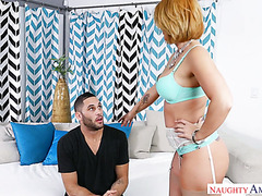 Handsome dude fucks his friend's slutty and gorgeous mom Molly Heart