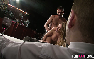 Cuckold groom pays 50k to a friend for fucking his bride Stacey Saran